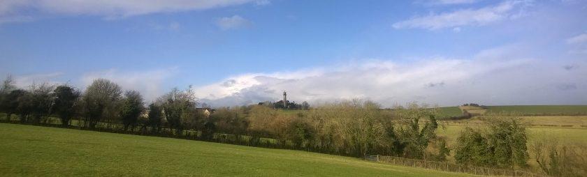 Panoramic photo of hills around Hawkesbury