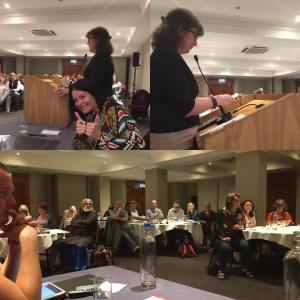 Montage of photos from the conference