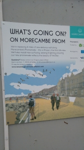 Poster announcing improvements to Morecambe prom