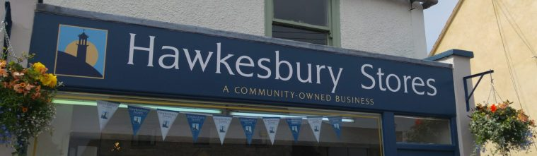 New shop sign saying Hawkesbury Stores