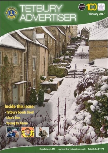 Cover of February 2017 edition of the Tetbury Advertiser