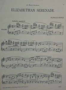 First page of piano music