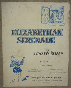 Cover of sheet music for Eliabethan Serenade