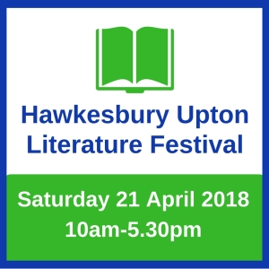 save the date notice for Hawkesbury Upton Lit Fest
