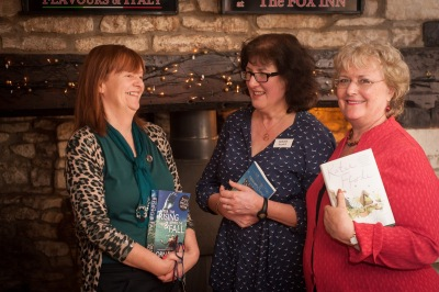 photo of Orna, Debbie and Katie in The Fox, Hawkesbury Upton