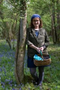 Photo of Debbie in a bluebell wood