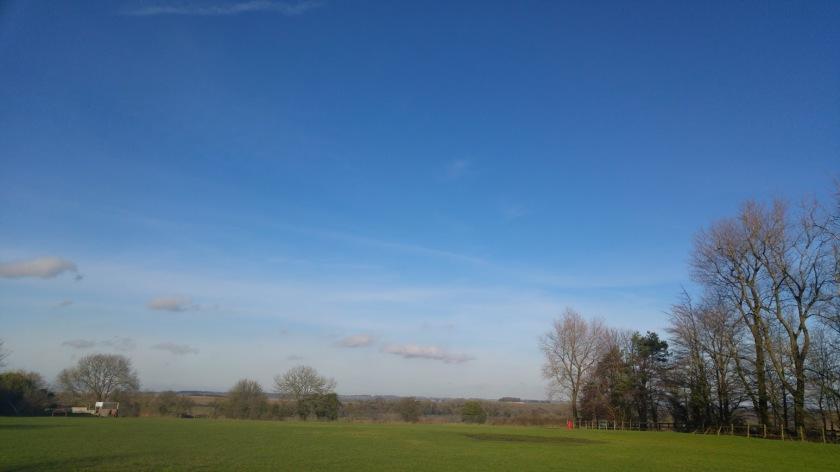 blue sky over the rec