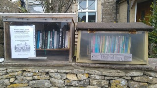 photo of bookshelves on my garden wall