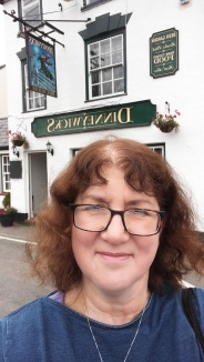 photo of Debbie outside pub