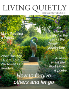 cover of October issue of Living Quietly