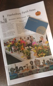 cover of parish mag with my John Lewis card