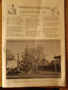 cover of January issue of Hawkesbury Parish News