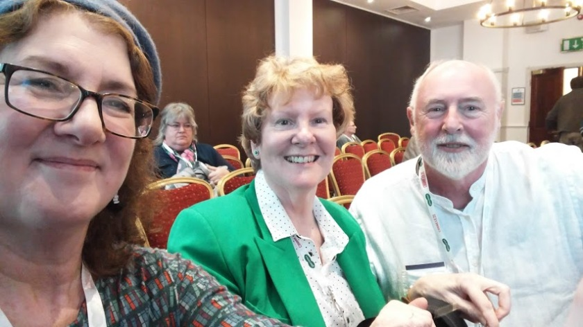 Selfie of Debbie Young, Alison Morton, & David Penny