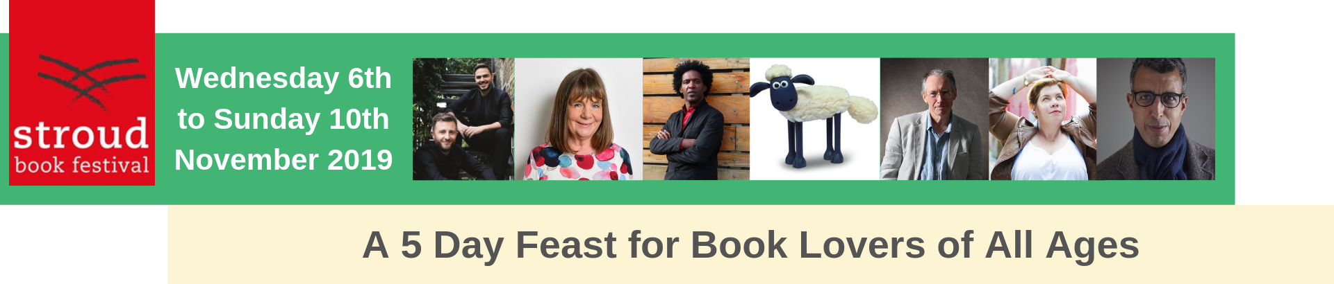 header advertising Stroud Book Festival 2019