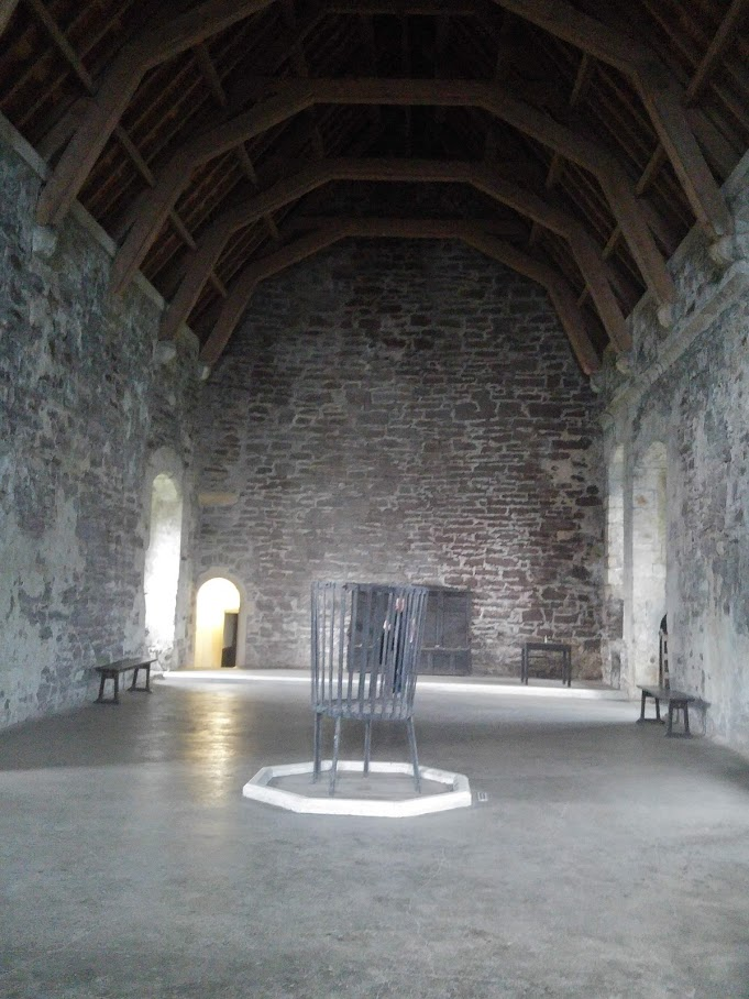 inside the medieval Great Hall at Doune Castle
