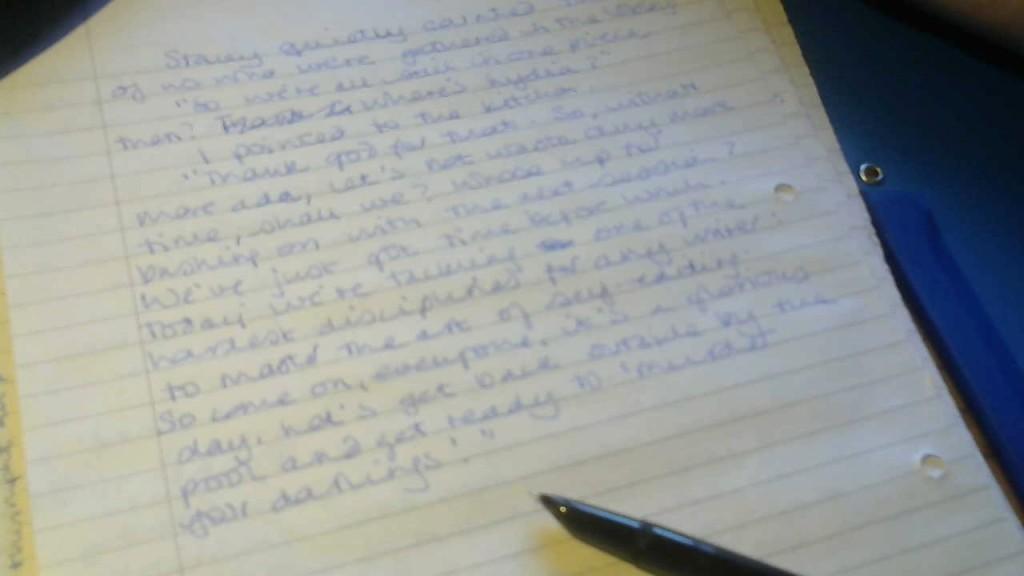 Sample of handwritten manuscript with pen