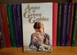 photo of hardback of Anne of Green Gables as part of a set of children's classics