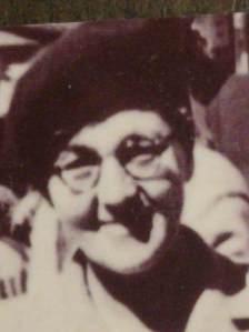 headshot of Grandma in a beret