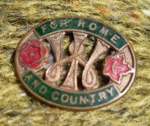 photo of vintage WI badge